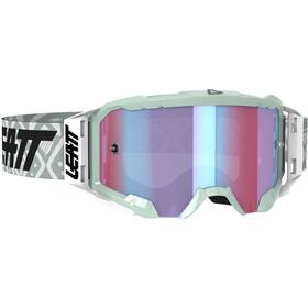 Leatt Velocity 5.5 Iriz Anti Fog Mirror Lunettes de protection, white/blue
